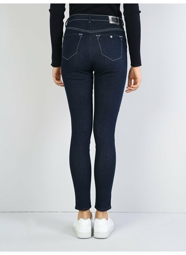 Colin's 760 Dıana Yüksek Bel Dar Paça Super Slim Fit Mavi Kadın Jean Pantolon Mavi